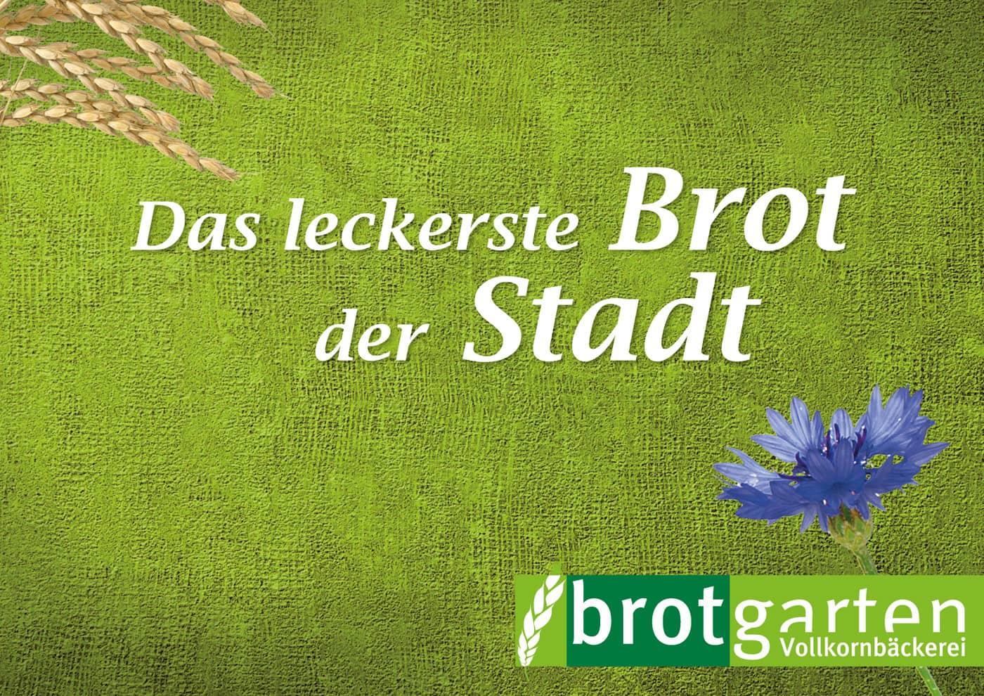 Relaunch CD und Markenführung für die Biobäckerei Brotgarten