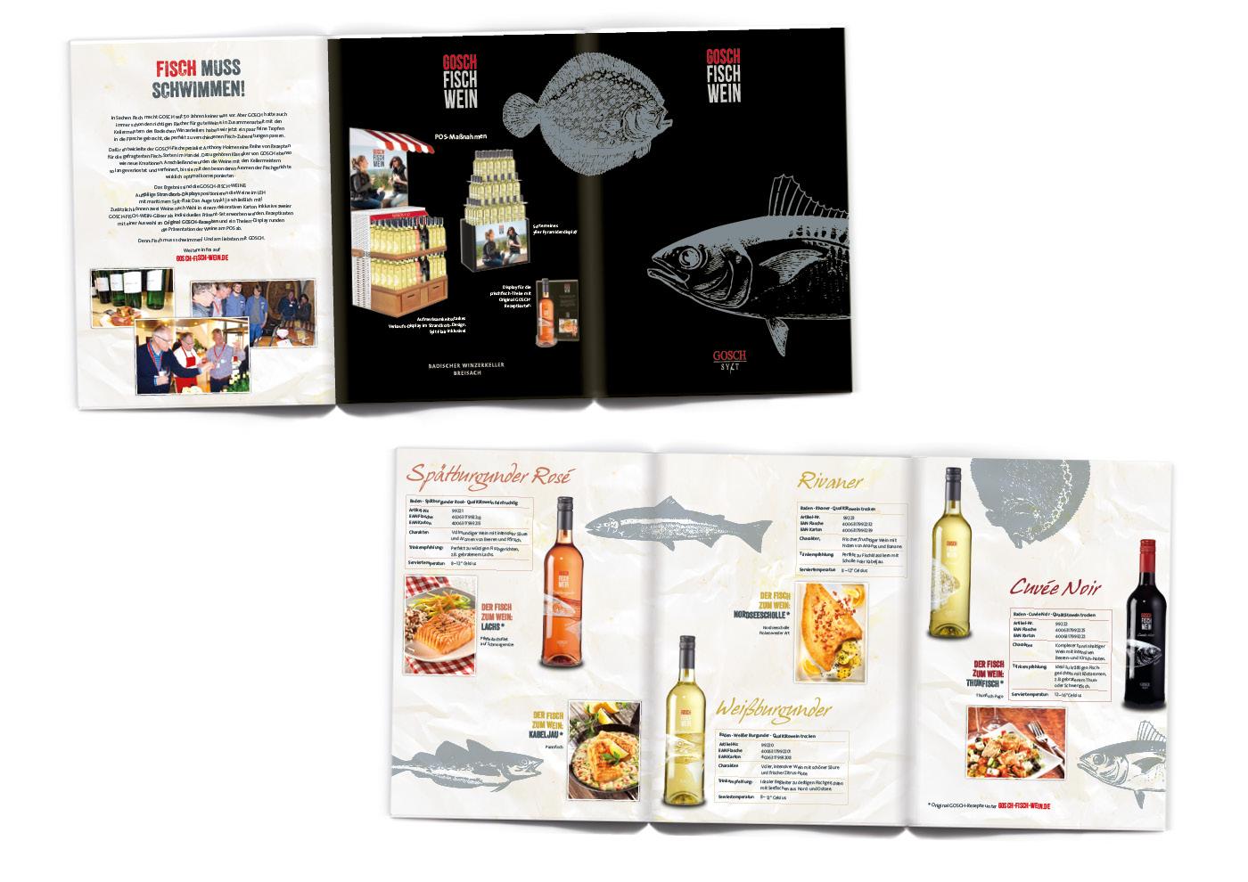 Markenentwicklung GOSCH-FISCH-WEINE: Sales-Mappe