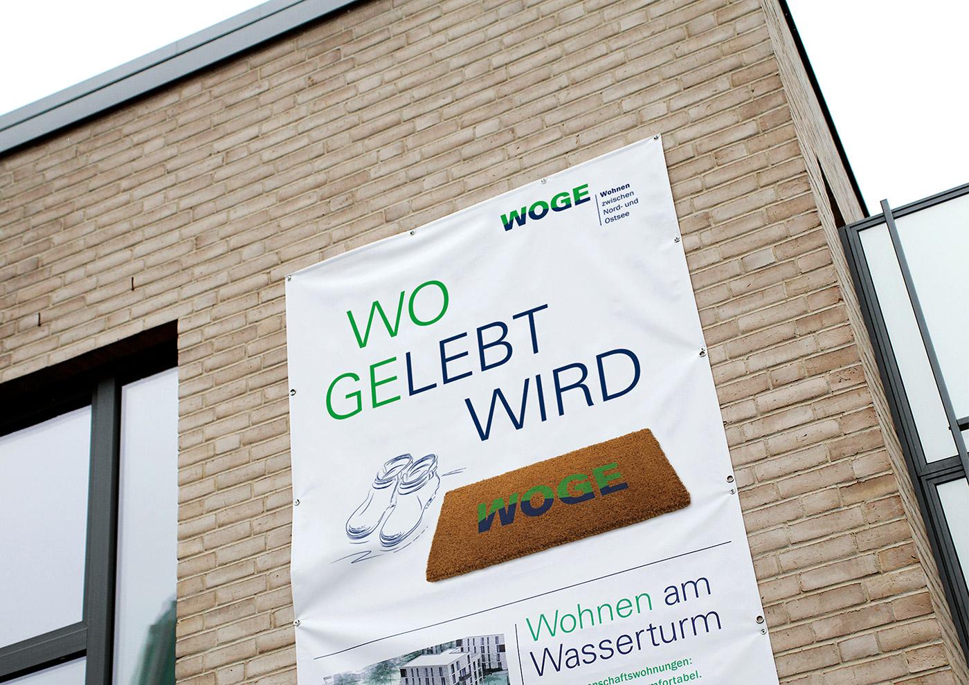 Corporate Design und Kommunikation für die WOGE Kiel: Banner