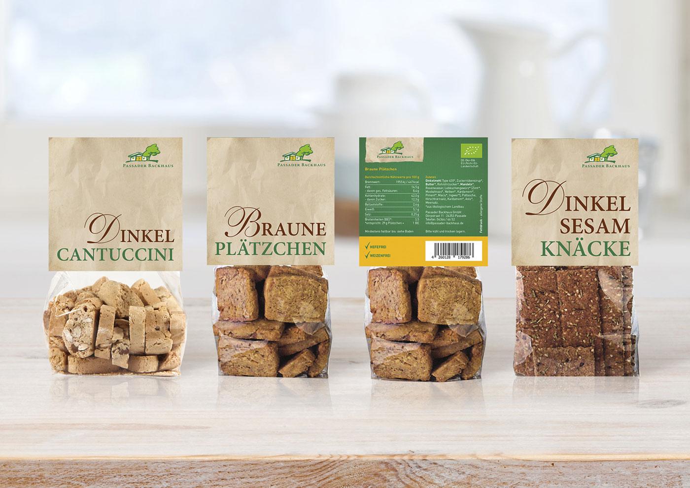 Markenführung für die Biobäckerei Passaader Backhaus: Packaging