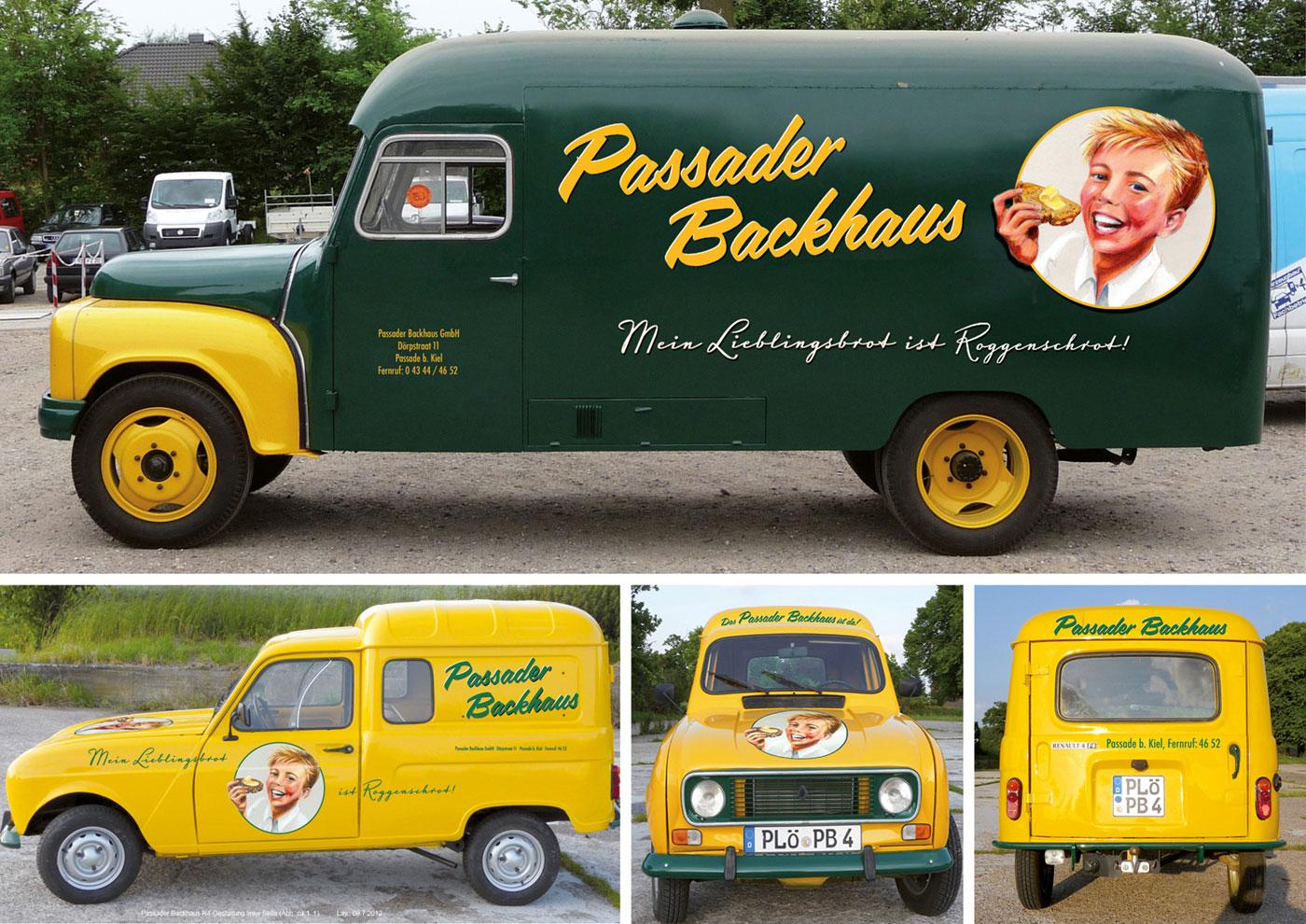 Markenführung für die Biobäckerei Passaader Backhaus: Fahrzeugbranding