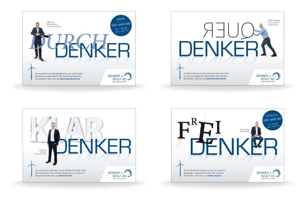 """Druch, Quer, Klar, Frei- """"Denker"""" - persönliche Kampagne der Denker & Wulf AG"""