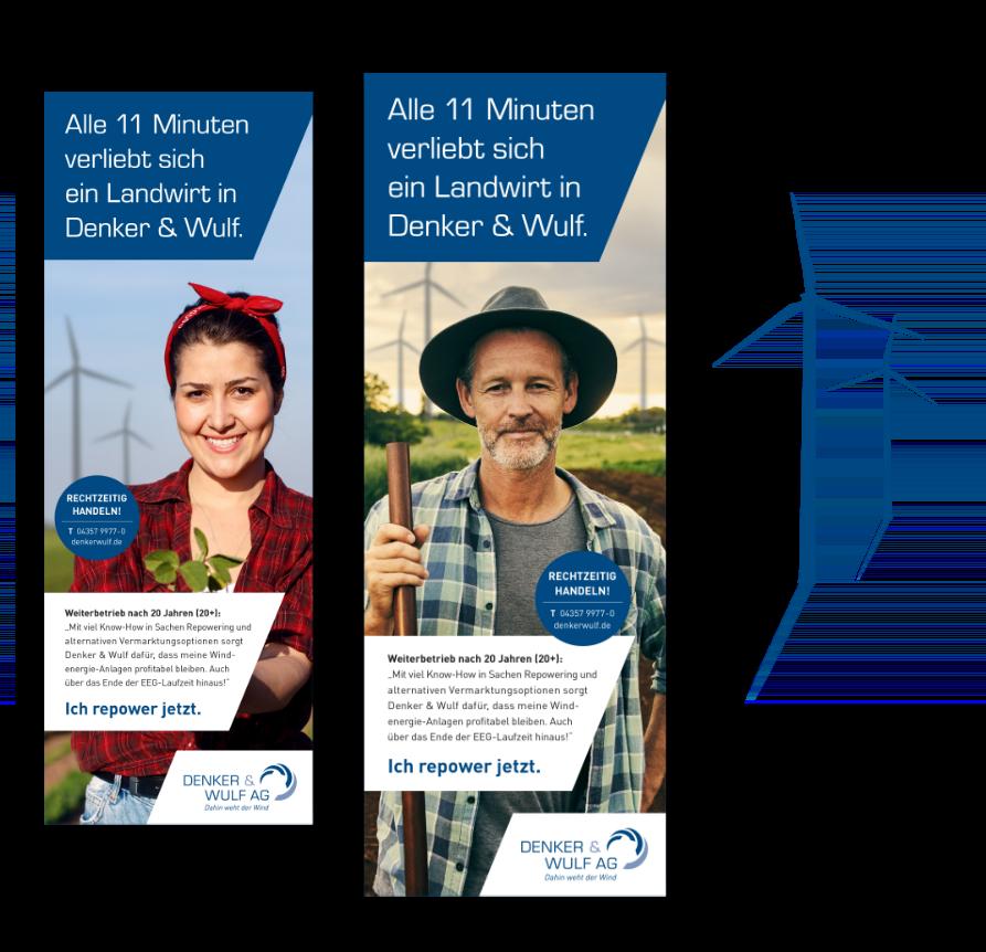 Alle 11 Minuten verliebt sich ein Landwirt in Denker & Wulf - Werbekampagne mit Humor