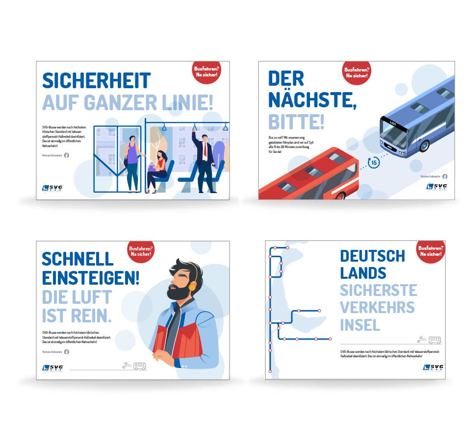 Print-Motive Deutschland sicherste Verkehrsinsel