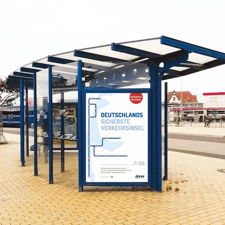 City Light vom SVG Kampagne Deutschland sicherste Verkehrsinsel